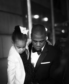 Jay-Z and Blue Ivy dressed up to support Beyoncé at the CFDA Awards.