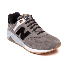 Shop for Mens New Balance 572 Athletic Shoe in Gray Black Gum at Journeys Shoes.