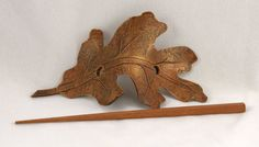 Hey, I found this really awesome Etsy listing at https://www.etsy.com/listing/122731762/oak-leaf-leather-barrette-sca-larp