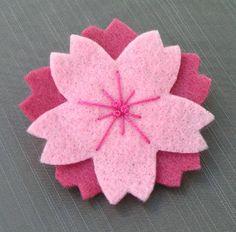Felt Flower with Stitching