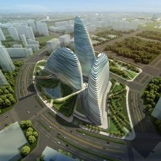 I love this building by Zaha Hadid. The organic curves are a refreshing site from all the geometric skyscrapers.