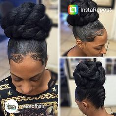 Bun with french braids