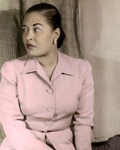 Billie Holiday way back when they colored portraits by hand