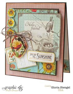Scraps of Life: Graphic 45 - August Time To Flourish Project Sheet