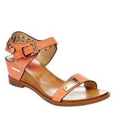 Another great find on #zulily! Apricot Angie Wedge Sandal by CheckList #zulilyfinds