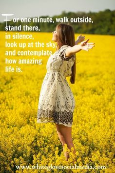 """""""For one minute, walk outside, stand there, in silence, look up at the sky, and contemplate how amazing life is."""" #life #living #appreciation #gratitude #quotes"""
