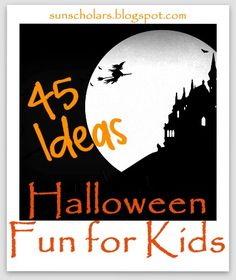 45 Ideas of fun things to make and do with your kids this Halloween.  You will find lots of amazing ideas here.  Don't miss this great collection!
