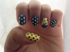 These 20 adorable despicable me minions nail art designs are a good example of how cute you can get your nails. Super Cute Nails, Great Nails, Love Nails, My Nails, Color Nails, Pretty Nail Designs, Nail Art Designs, Minion Nail Art, Manicure Y Pedicure