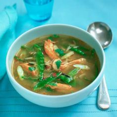 Hot and sour turkey soup. Packed with classic Thai flavours, serve this healthy soup with bread for a main course.