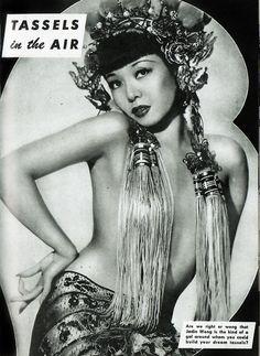 Jadin Wong burlesque dancer 1940's