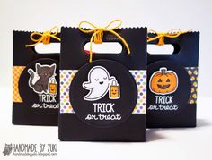 Handmade by Yuki: Halloween Goodie Bags featuring Lawn Fawn