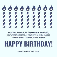 Celebrate your son's Birthday with these heartfelt Birthday Wishes for Son from mother and loved ones including funny birthday wishes for son in laws. Birthday Wishes For Myself, Birthday Wishes Funny, Sons Birthday, Always Remember, First Love, First Crush, Puppy Love