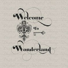 Alice In Wonderland Key and Keyhole Lewis Carroll por DigitalThings