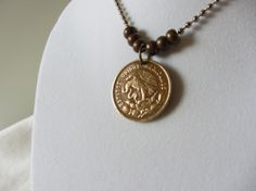 Mexico Coin Necklace.  World Coin Jewelry. by hart2hartdesigns, $18.00