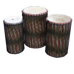 Show details for Ghanaian Dun Dun Drums (Set Of