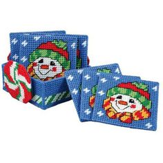 Shop plastic canvas project ideas at Herrschners. Get high quality kits, plastic canvas, accessories and much more! Plastic Canvas Coasters, Plastic Canvas Ornaments, Plastic Canvas Tissue Boxes, Plastic Canvas Christmas, Plastic Canvas Crafts, Plastic Canvas Patterns, Tissue Box Crafts, Homemade Coasters, Canvas Designs