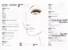 Image result for Brown Eyeshadow Face Chart