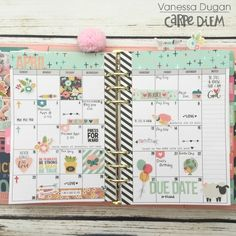 Carpe Diem planner from creative team member Vanessa Dugan using our Faith collection