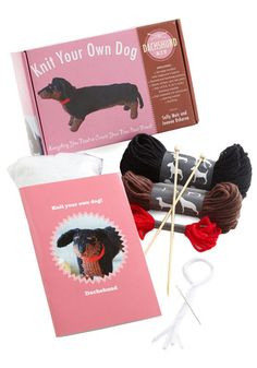 Knit Your Own Dog Kit in Dachshund - Multi, Handmade & DIY, Good, Variation, Dog