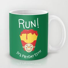 RUN!!!! A tribute to Friday the 13th Mug by AnishaCreations - $15.00