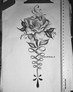 rosa unalome tattoo tauagem #rosetattoo #unalometattoo #unalome #flowertattoo #tatuadora #tatuagem #inspiracao #inspiração #inspiration