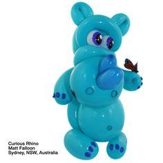 Caribbean blue entries Balloon Curious Rhino Matt Falloon Sydney, NSW, Australia