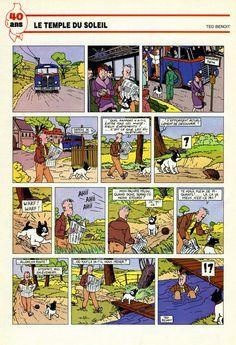 Hommage a Tintin Ted Benoit