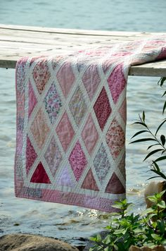 Diamonds are a Girl's Best Friend quilt - inspired by the quilt that Jane Austen made.