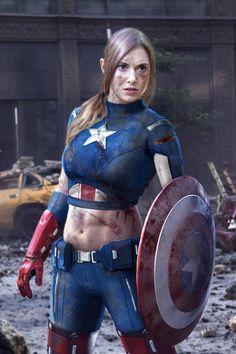 Badass Photo of Alison Brie as CaptainAmerica - News - GeekTyrant