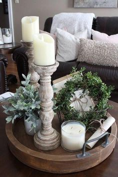 Secrets To Home Decor Ideas Living Room Rustic Farmhouse Style 74 - freehome. - Secrets To Home Decor Ideas Living Room Rustic Farmhouse Style 74 – freehome… - Traditional Living Room Furniture, Decorating Coffee Tables, Coffee Table Decor Living Room, Coffee Table Tray Decor, Coffee Table Decorations, Coffee Table Styling, Farm Table Decor, Table Centerpieces For Home, Farmhouse Table Decor