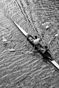 Photo of Couple Rowing on Chicago River  Fine Art by CarlaDyck, $35.00