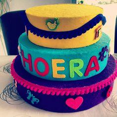 Verjaardagstaart Captain Hat, Happy Birthday, Children, School, Hats, Parties, Sewing, Birthday, Happy Brithday