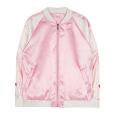 [Description] Impart a sweet tone to your athletic get-up with the help of this varsity jacket. It features multiple heart embroideries along the sleeves for an adorable look, ribbed collar, cuffs, an