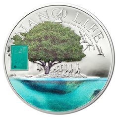 The Cook Islands' new coin features a nanochip with pictures and text that summarizes the story of life on Earth. Cook Islands, Numismatic Coins, Silver Coins For Sale, Trust, Coin Art, Creators Project, How To Get Rich, Coin Collecting, 1 Oz