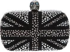 Alexander McQueen 'Britannia' skull box clutch auf shopstyle.de