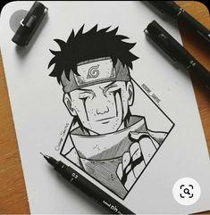 Naruto Sketch Drawing, Anime Boy Sketch, Naruto Drawings, Anime Drawings Sketches, Manga Drawing, Naruto Shippuden Anime, Naruto Art, Anime Naruto, Naruto Tattoo