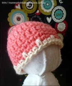 Mamma That Makes: Easy Spike Edge Preemie Cap
