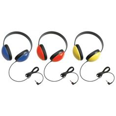 Listening First™ Headphones, Primary Colors Without Volume Control, Yellow, CAF2800YL