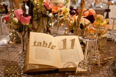 Table Number Creativity..  Make the dinner tables at galas, benefits, and other events more interesting with clever ideas for table card alternatives.Sure, basic black-and-white printed table number cards displayed in silver stands get the job of guiding guests to their seats done, but they tend to look a bit uninspired.