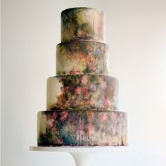 26 Watercolor Wedding Cakes That Will Take Your Breath Away - Watercolor Cake Is the Dreamiest New Wedding Trend