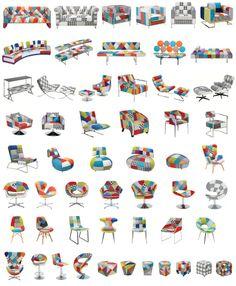 Patch Work Sessel soweit das Auge reicht. Design Möbel in verschiedenen Formen und Farben zu tollen Preisen! Schau dich um unter www.moebel-neuraum.de