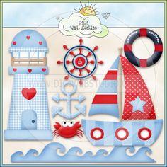 Good Ship Lollipop Sea 1 - NE Kristi W. Designs Clip Art