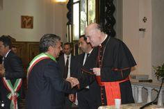 Il Sindaco Simoni con il Cardinale