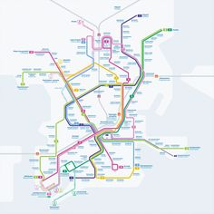 Submission - Unofficial Map of Helsinki Tram Network by Elmo Allén Submitted by Mikko. This is a really lovely little diagram, which treads the fine line between simplifying the network and depicting Helsinki's complex geography very deftly. Helsinki, Elmo, Bus Map, System Map, Metro Map, Subway Map, Rapid Transit, U Bahn, Map Design