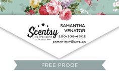 Custom Business Self Inking Stamp, Scentsy Stamp, Scentsy business card by poppycrate on Etsy