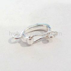 14 x 21mm sterling silver round balloon clasp jewelry findings h956m 925 solid silver pendant bail clasp clip findings aloadofball Gallery