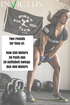 CrossFit Workouts by Invictus that you can do at the gym or at home. All you need is a kettlebell and you can sub out the rowing for running if you don't have a rower.