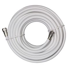 GE 23368 25-ft. Coaxial Cable with Heavy Duty Connectors - White