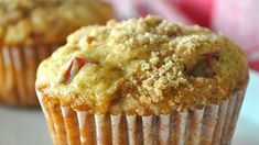Strawberry Rhubarb Streusel Muffins | Recipe | Muffins, Strawberries ...