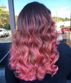 """492 Likes, 7 Comments - Connecticut Hairstylist (@lysseon) on Instagram: """"Hand painted pink balayage for miss Kat this afternoon 🌸 I use @brazilianbondbuilder #b3 in all my…"""""""